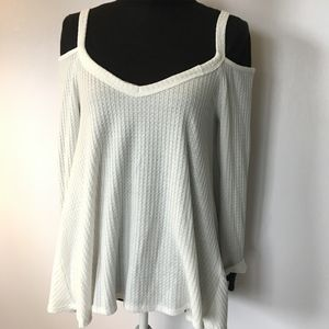 Cold Shoulder Cream Thermal Tunic
